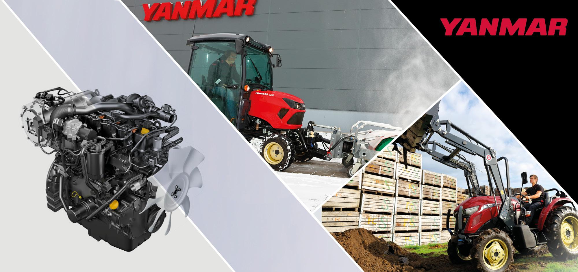 Yanmar Industrie Dieselmotoren Website Header Template